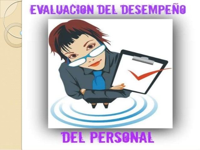 evaluacion del desempeño del personal