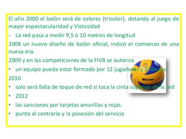 Ecolucion De Las Reglas De Voleibol