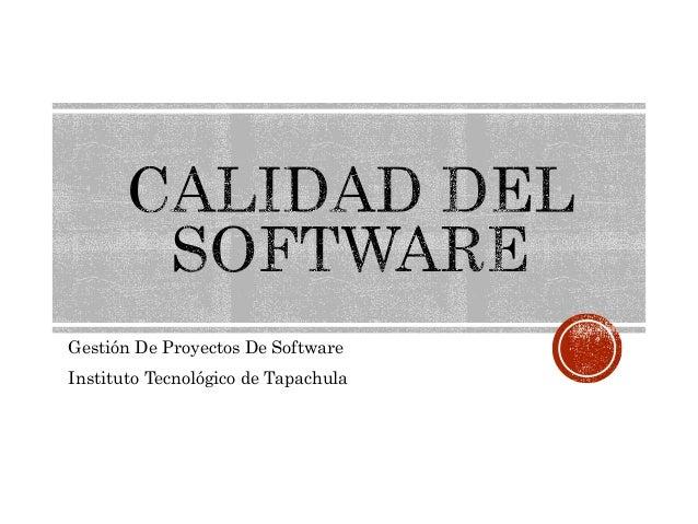 Gestión De Proyectos De Software Instituto Tecnológico de Tapachula