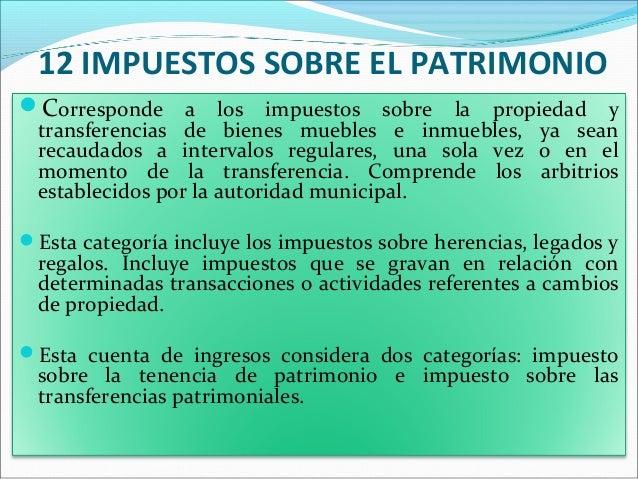 Estructura financiera patrimonial y presupuestaria de los for Impuesto de bienes muebles