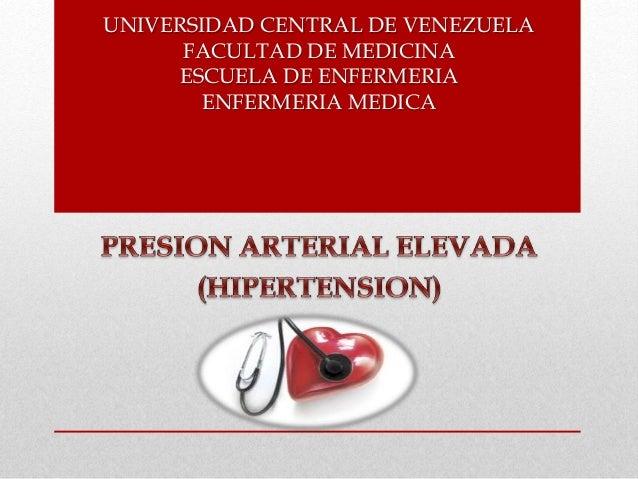 UNIVERSIDAD CENTRAL DE VENEZUELA FACULTAD DE MEDICINA ESCUELA DE ENFERMERIA ENFERMERIA MEDICA