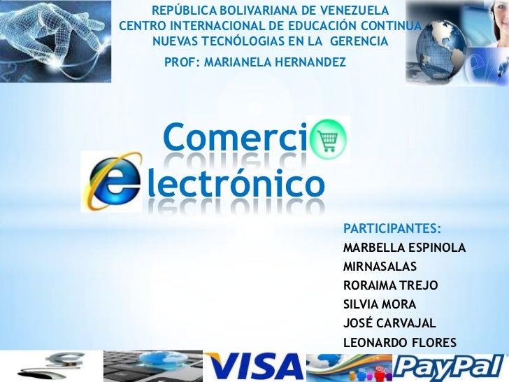 REPÚBLICA BOLIVARIANA DE VENEZUELACENTRO INTERNACIONAL DE EDUCACIÓN CONTINUA    NUEVAS TECNÓLOGIAS EN LA GERENCIA      PRO...