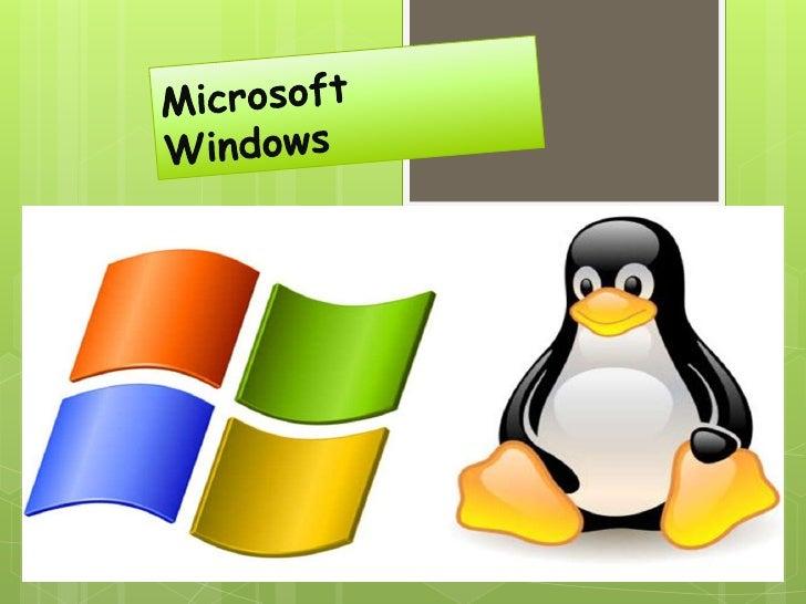Microsoft   Windows :es el nombre de un conjunto de sistemas operativos desarrollados por Microsoft desde 1981, año en q...