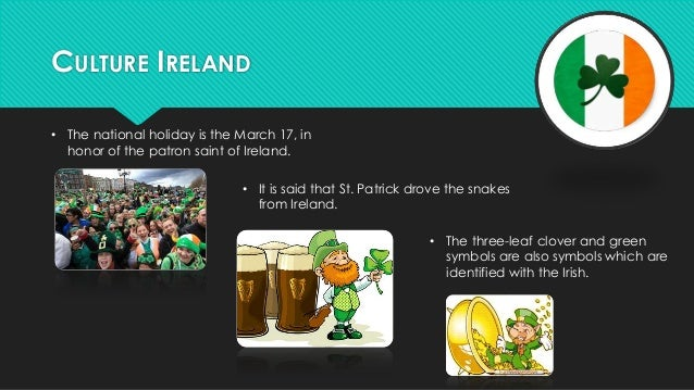 CHARACTERISTICS OF FAMILIES  • Usually Irish families are 5-6 members.  Most members are blond and / or  redheads.