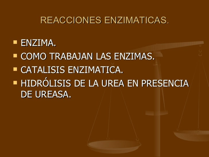 REACCIONES ENZIMATICAS . <ul><li>ENZIMA. </li></ul><ul><li>COMO TRABAJAN LAS ENZIMAS.  </li></ul><ul><li>CATALISIS ENZIMAT...