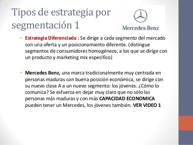 Exposicion de marketing una puno for Mercedes benz marketing mix