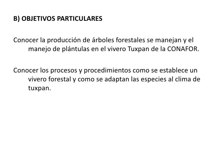 Exposicion de servicio social for Viveros forestales conafor