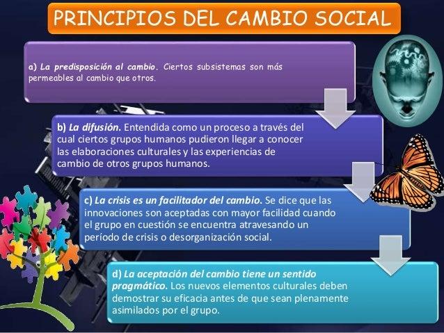Características del CAMBIO SOCIAL Ser característica sintética del nivel de socialización alcanzado por individuos y grupo...