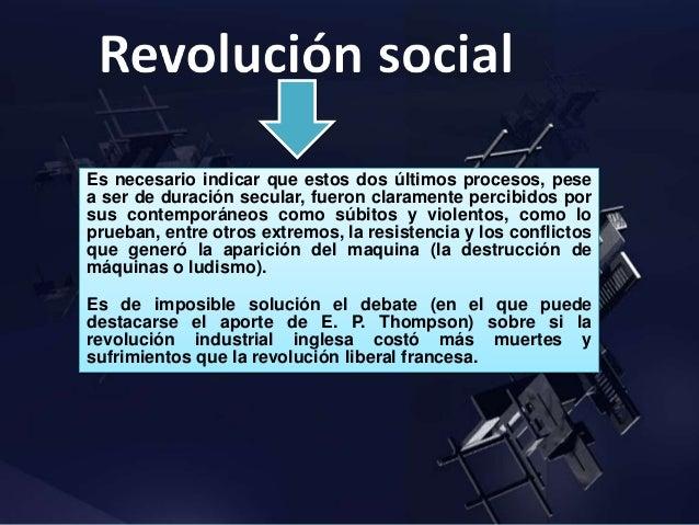 conflicto, cambio y revolucion social