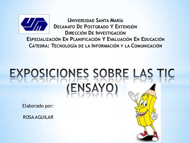 UNIVERSIDAD SANTA MARÍA             DECANATO DE POSTGRADO Y EXTENSIÓN                  DIRECCIÓN DE INVESTIGACIÓN ESPECIAL...