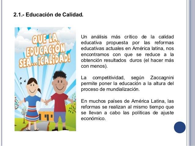 Reformas educativas en america latina an lisis critico - Reformas de calidad ...