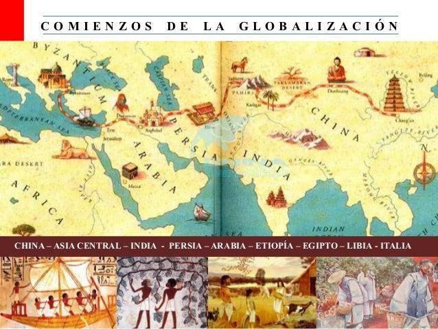 C O M I E N Z O S D E L A G L O B A L I Z A C I Ó N CHINA – ASIA CENTRAL – INDIA - PERSIA – ARABIA – ETIOPÍA – EGIPTO – LI...