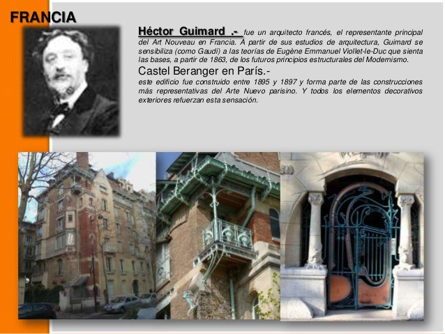 Art nouveau y art deco Art nouveau arquitectura