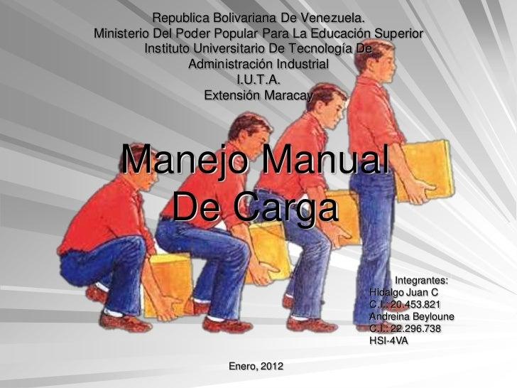 Republica Bolivariana De Venezuela.Ministerio Del Poder Popular Para La Educación Superior         Instituto Universitario...