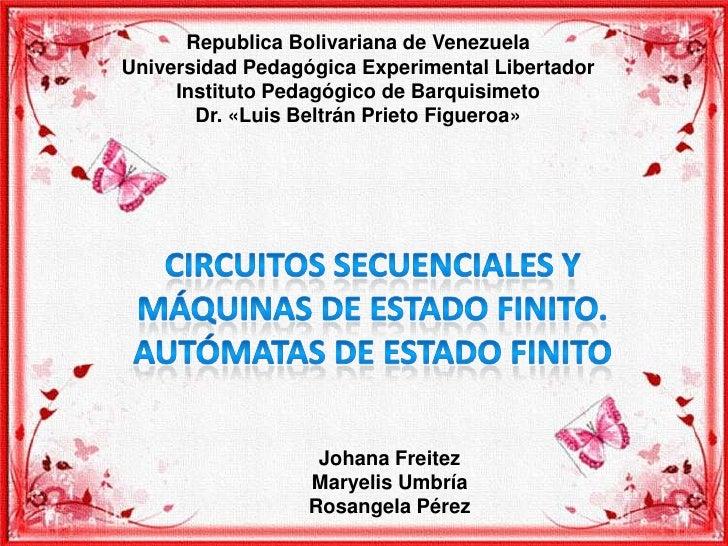 Republica Bolivariana de VenezuelaUniversidad Pedagógica Experimental Libertador     Instituto Pedagógico de Barquisimeto ...
