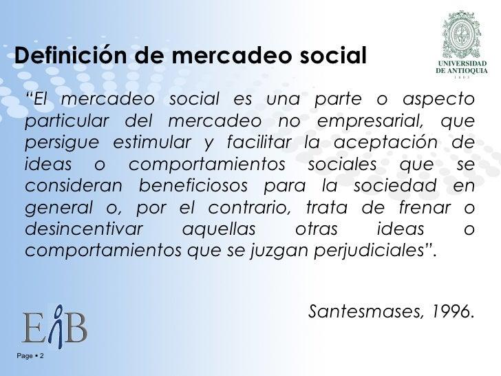 Mercadeo social y mercadeo no lucrativo Slide 2