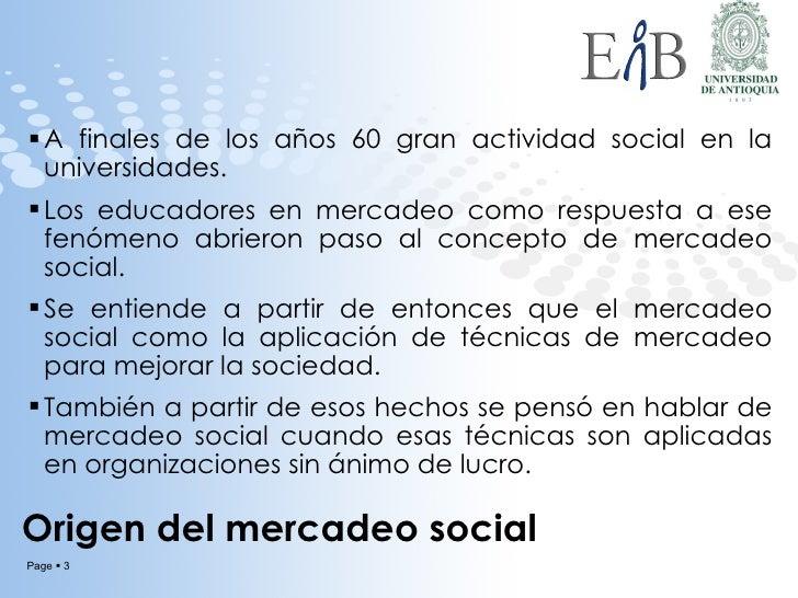 Mercadeo social y mercadeo no lucrativo Slide 3
