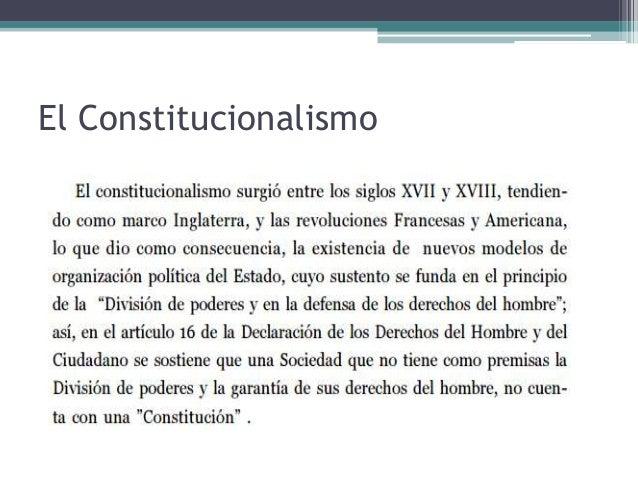 El Constitucionalismo