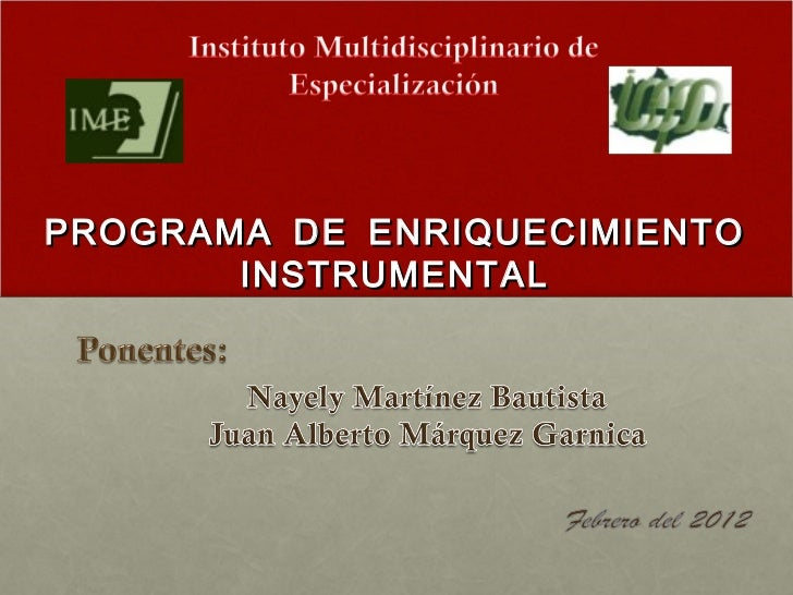 PROGRAMA DE ENRIQUECIMIENTO       INSTRUMENTAL