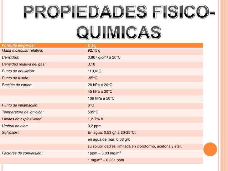 Exposicion quimica tolueno for Marmol caracteristicas y usos