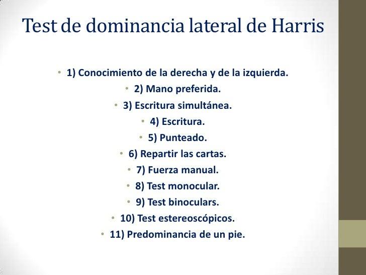 test de dominancia lateral de harris
