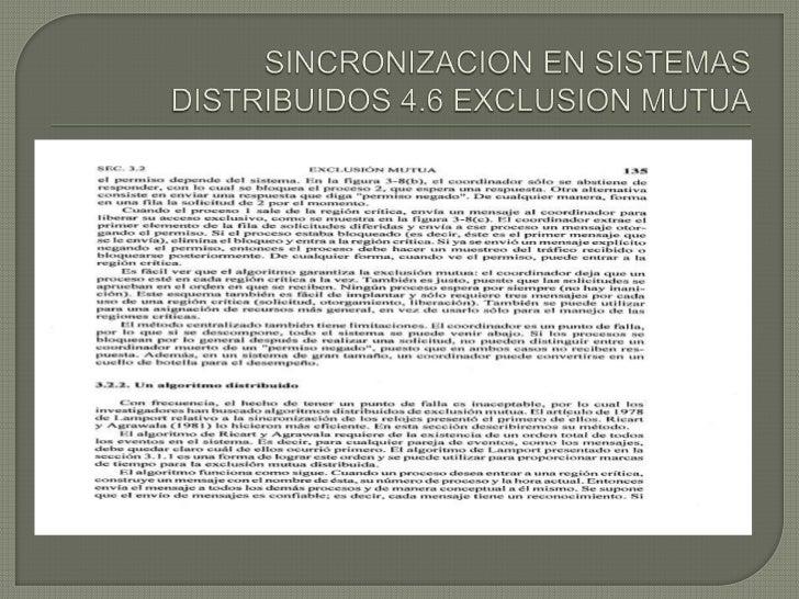 SINCONIZACION DE SISTEMAS DISTRIBUIDOS Slide 2