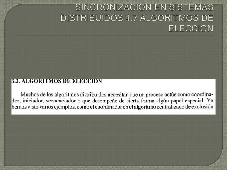 SINCONIZACION DE SISTEMAS DISTRIBUIDOS