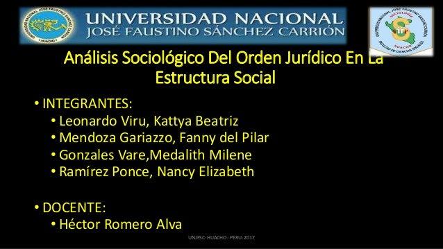 Orden Jurídico En La Estructura Social