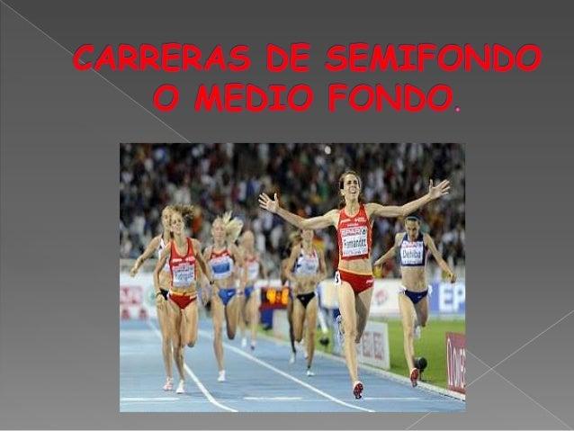 Medio fondo atletismo reglas