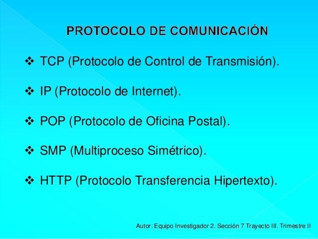 Exposicion tic iii grupon 2 for Protocolo pop