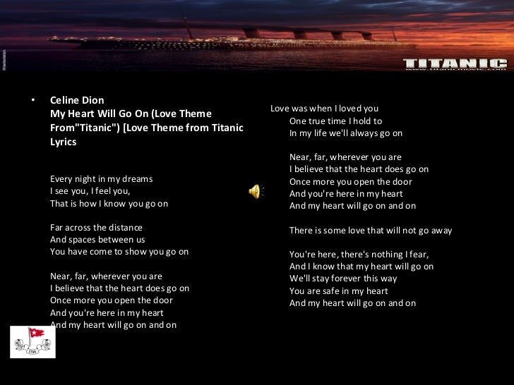 Céline Dion – Titanic Lyrics | Genius Lyrics