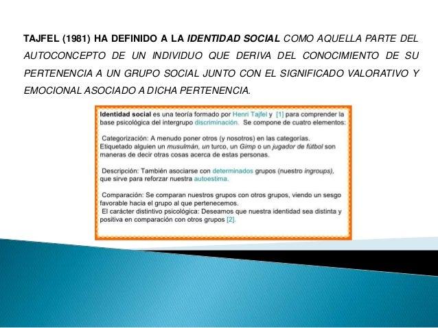 """""""LA IDENTIDAD TIENE VARIAS DIMENSIONES: LA IDENTIDAD ASIGNADA, LA IDENTIDAD APRENDIDA LA IDENTIDAD INTERNALIZADA O"""