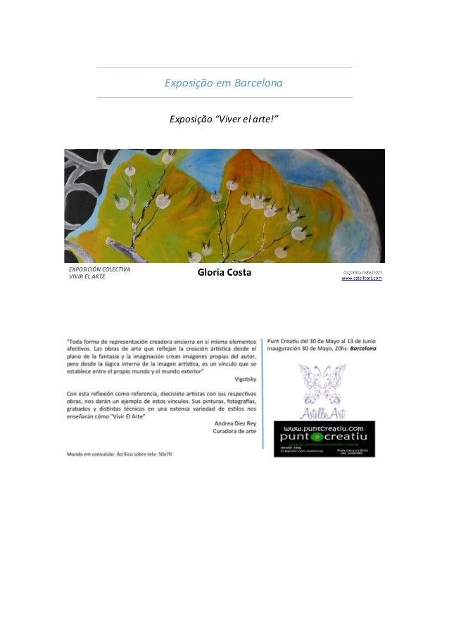 """Exposição em Barcelona Exposição """"Viver el arte!"""""""