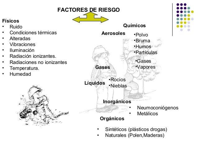 Exposision agentes for Procesos quimicos en la cocina