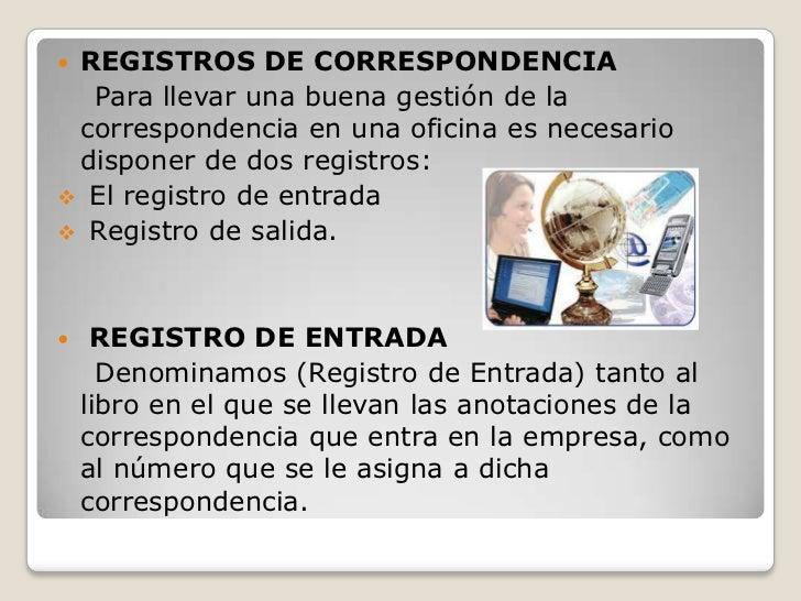 Correspondencia de entrada for Oficina registro