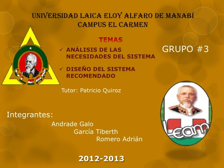 UNIVERSIDAD LAICA ELOY ALFARO DE MANABÍ                 CAMPUS EL CARMEN                ANÁLISIS DE LAS           GRUPO #...