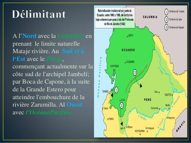 A l'Nord avec la Colombie, en prenant le limite naturelle Mataje rivière. Au Sud et à l'Est avec le Pérou, commençant actu...