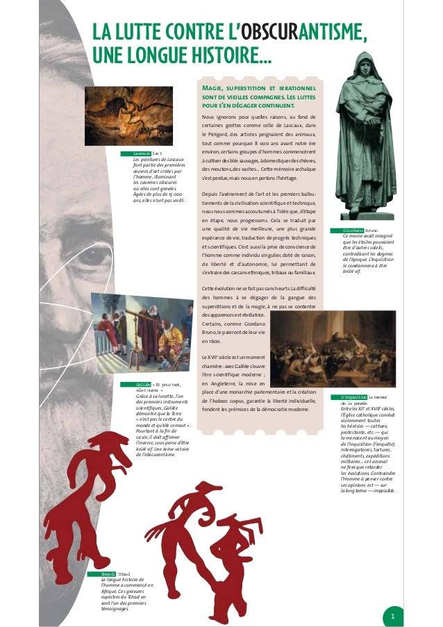 LA LUTTE CONTRE L'OBSCURANTISME,UNE LONGUE HISTOIRE…                                              Magie, superstition et i...