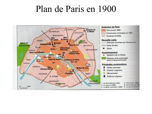Plan de Paris en 1900