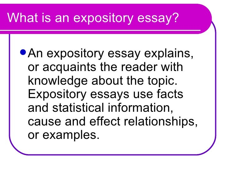 example of an expository essay