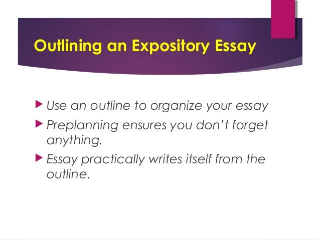 expository essay powerpoint russellrodrigo outlining an expository essay