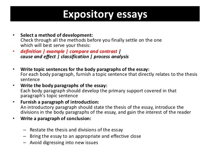 Opening sentences for expository essays definition