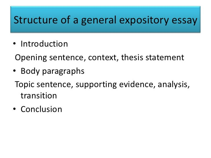 expository essays structure of a general expository essay•