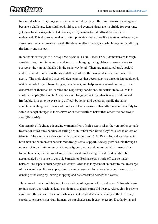 term paper on old age Sample essays ielts essay: should retirement age be increased by ielts practice september 10, 2013 essay topic workers should retire at the age of 60 or 65  ielts essay: some cultures value old age ielts essay: performance based pay packets encourage employees to work harder do you agree tags: ielts sample essays next.