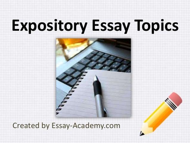 interesting expository essay topics