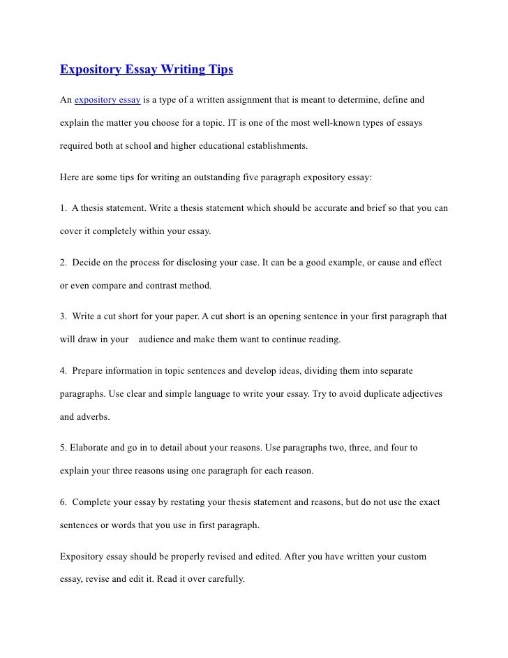 Expository thesis statement worksheet