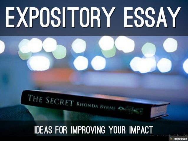 Expository Evidence