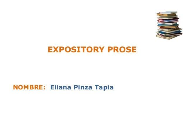 EXPOSITORY PROSENOMBRE: Eliana Pinza Tapia