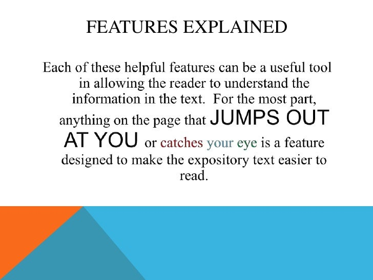 Printables Expository Text Features expository text features explained 9