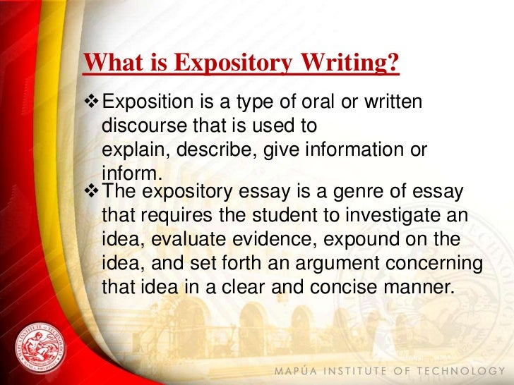 Exploratory essay definition